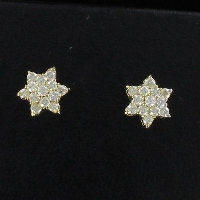 14KT DIAMOND STAR EARRINGS