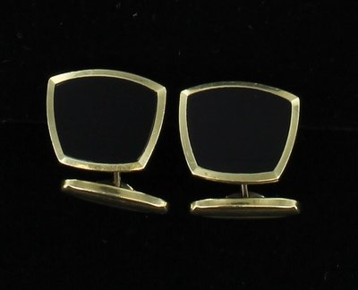 14KT BLACK ONYX CUFF LINKS