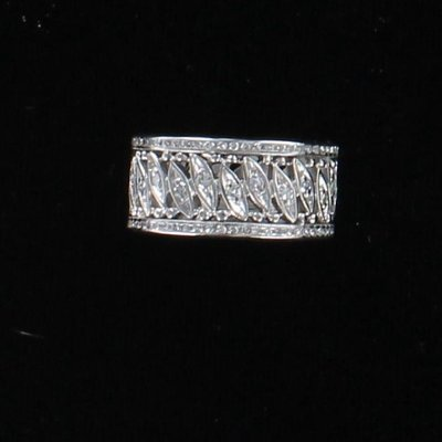 14KTW DIAMOND ETERNITY BAND, SZ 6.75