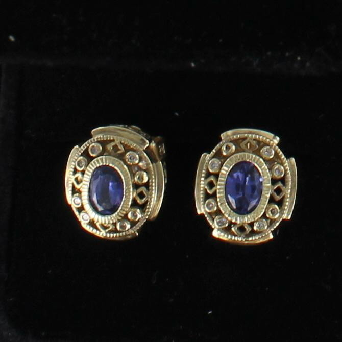 14KTY 2.0 CT TW SAPPHIRE EARRINGS
