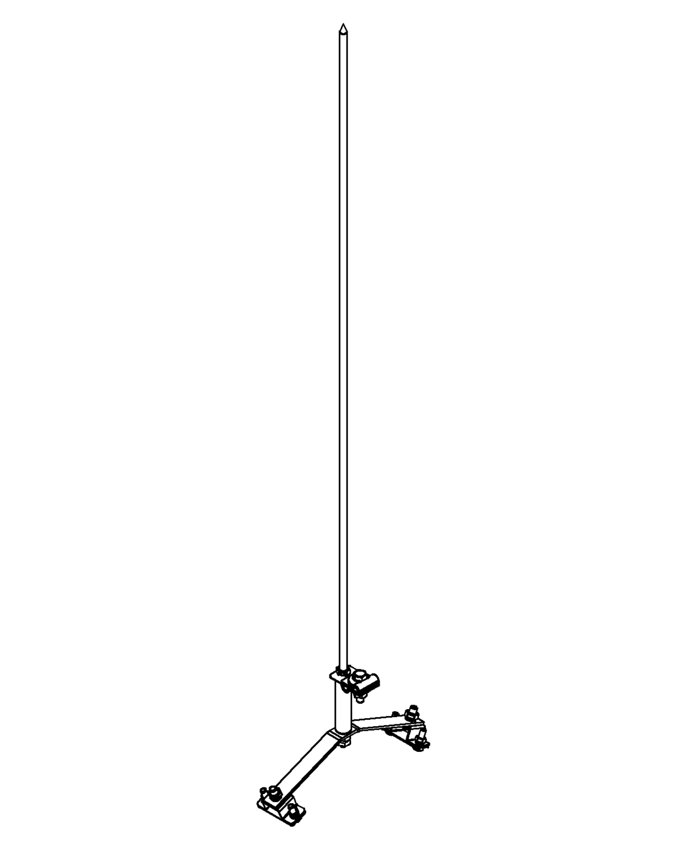 Молниеприемник стержневой сборный МСС-3.4КД-800-105ГЦ