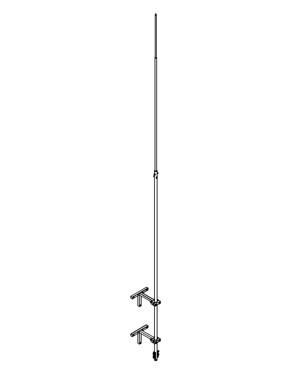 Молниеприемник стержневой сборный МСС-3.2К-5500-0,3СГЦ