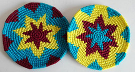 Coasters - Chiltote, Yellow, Sky Blue - Set of 6