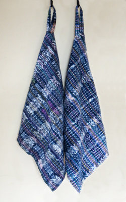 Jaspe Kitchen Towel, Blue - Single