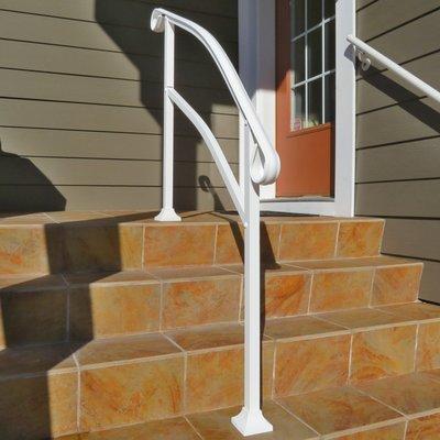 InstantRail 4-Step Adjustable Handrail - White