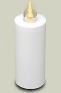 LED Kerze Weiss  Leuchtet 100 Tage