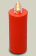 LED Kerze Rot  Leuchtet 100 Tage