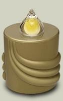 LED Kerze Gold  Leuchtet 300 Tage (10 Monate)