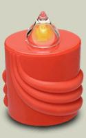 LED Kerze Rot Leuchtet 300 Tage (10 Monate)