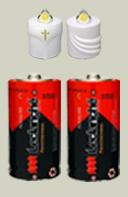 2 Alkali Batterien für G-300 und G-500 Kerzen