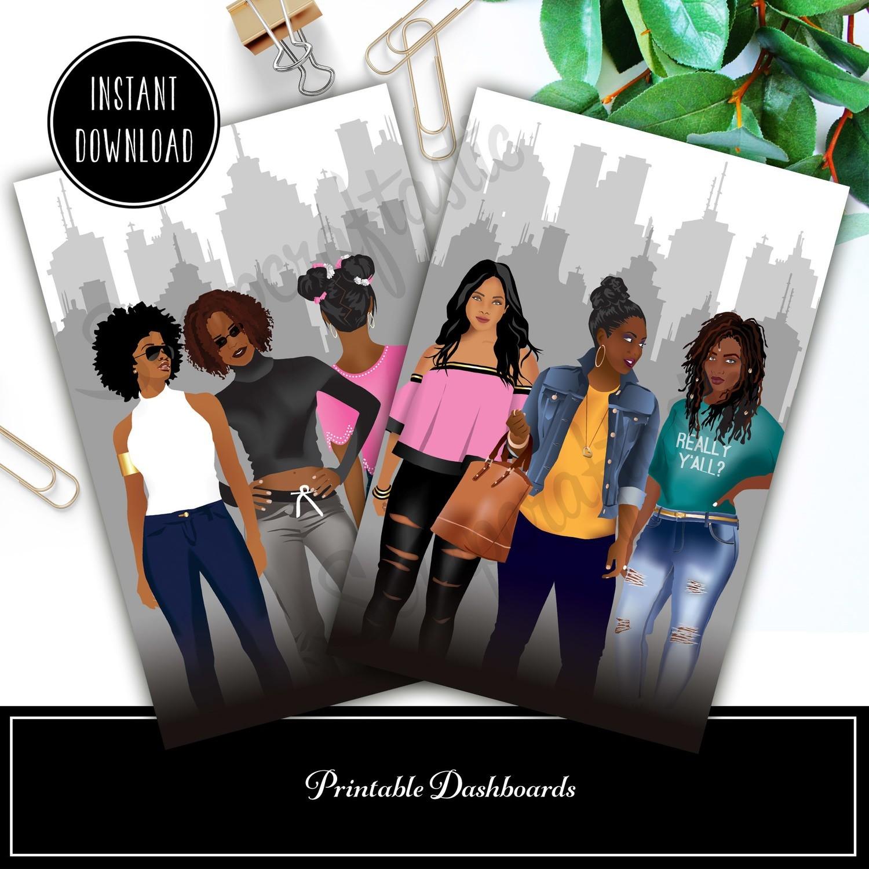 B6 - Planner Queens Set 1 Printable / Digital Download Dashboard