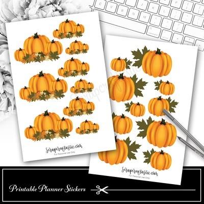 Pumpkin Decor Printable Planner Stickers
