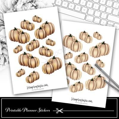 Pumpkin Cream Decor Printable Planner Stickers