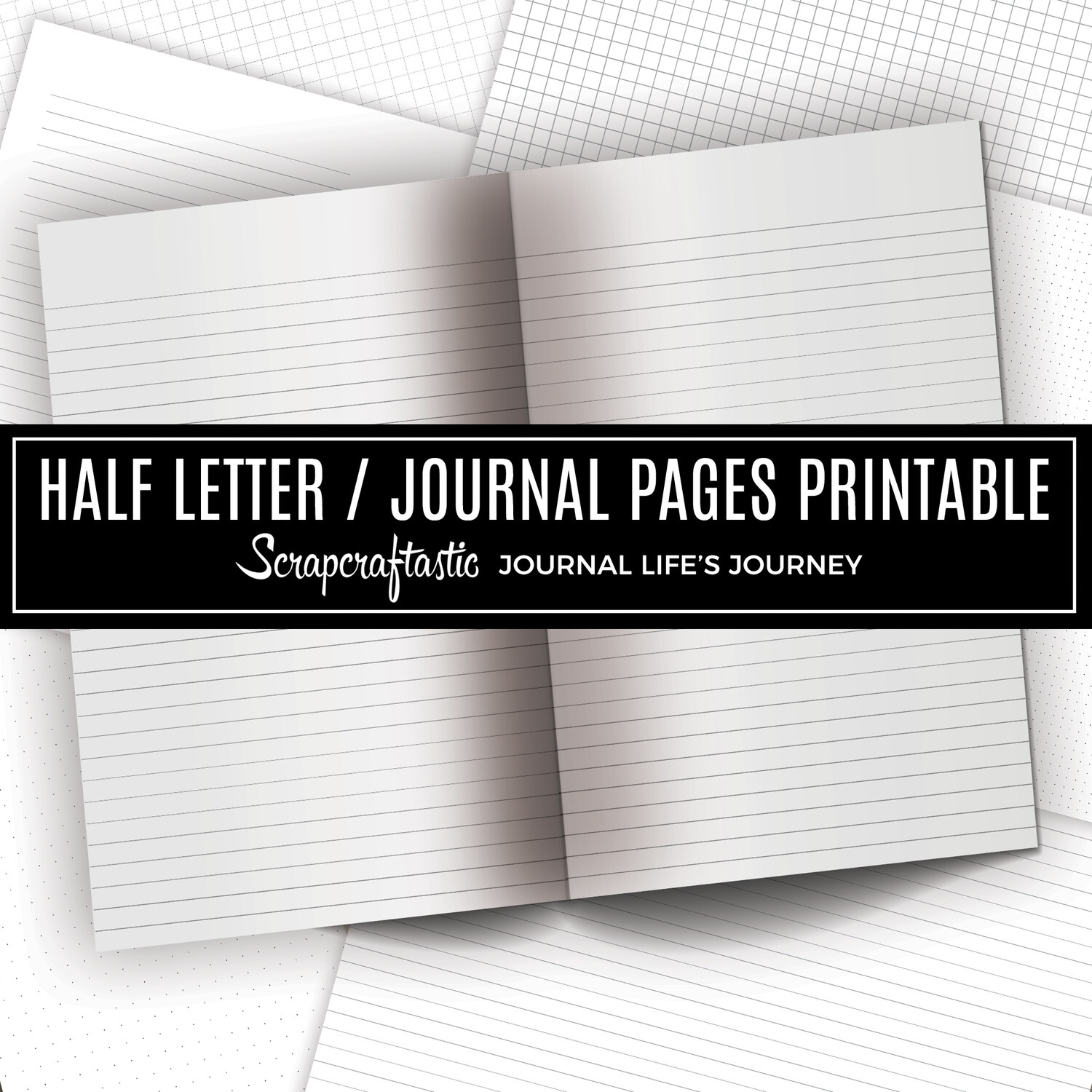 JOURNAL BASICS - Lines, Grids, Dot Grids Printable Journal Pages