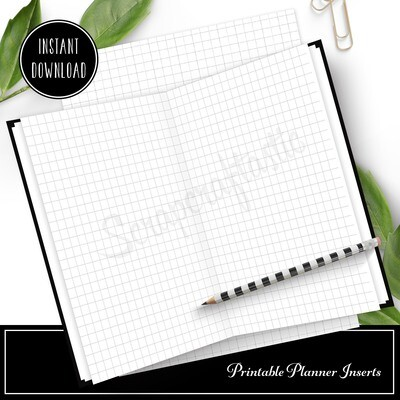 PLANNER BASICS - Printable Grid Pattern for Planners and Traveler's Notebooks