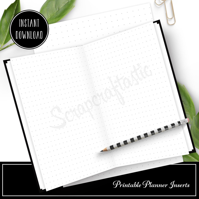PLANNER BASICS - Printable Dot Grid Pattern for Planners and Traveler's Notebooks