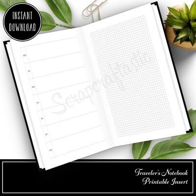 STANDARD TN - Hobo Style Undated Weekly Printable Planner Insert
