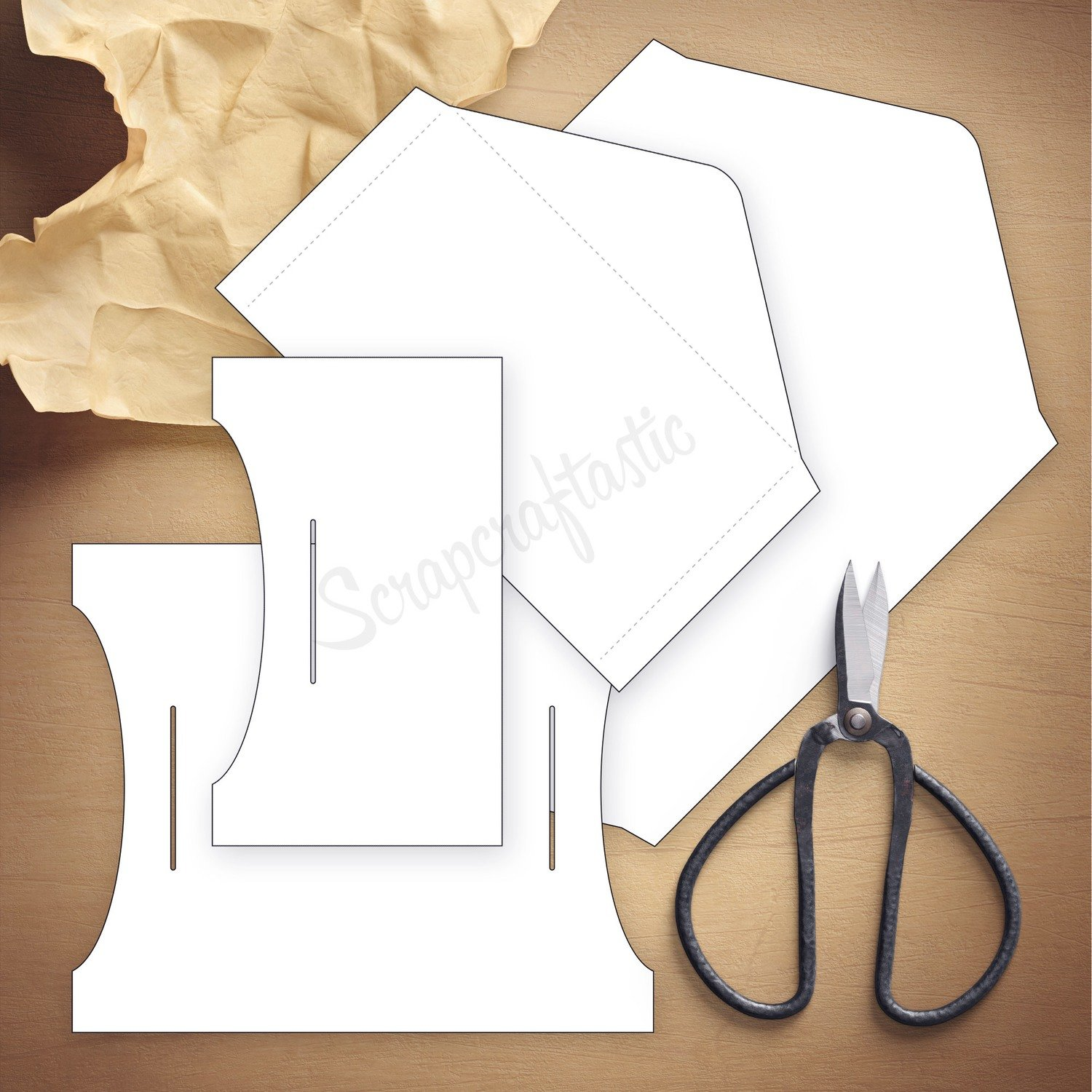 Double Envelope Standard Size Traveler's Notebook Insert Template & Cut Files
