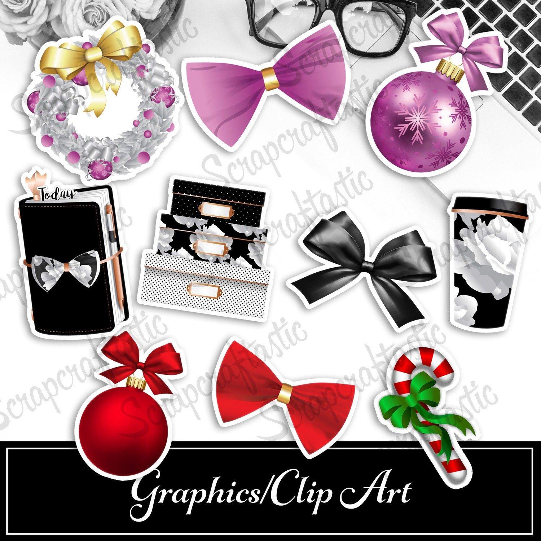 Black Friday, Christmas Reds, Christmas Pinks Digital and Printable Graphics / Clip Art Sets