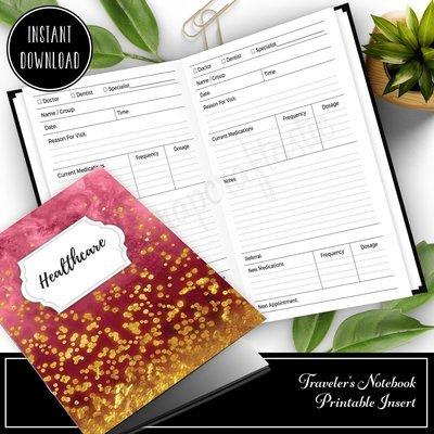 CAHIER - Healthcare Visit Log Traveler's Notebook Printable Insert