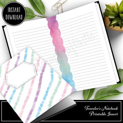 CAHIER - Unicorn Magic Lined Note Paper Traveler's Notebook Printable Insert