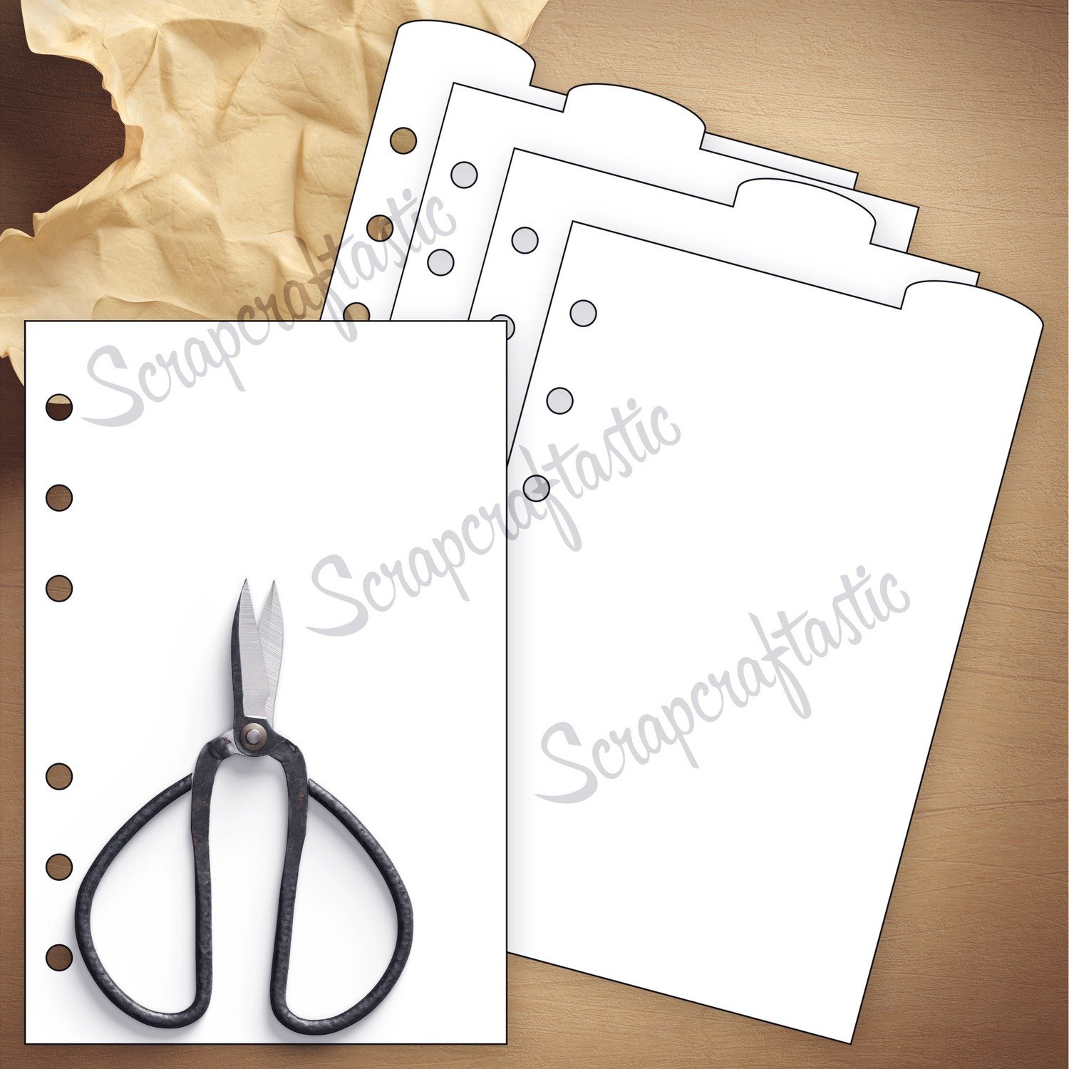 PERSONAL RINGS - 4 Rounded Top Tab Divider Printable Templates and Cut Files