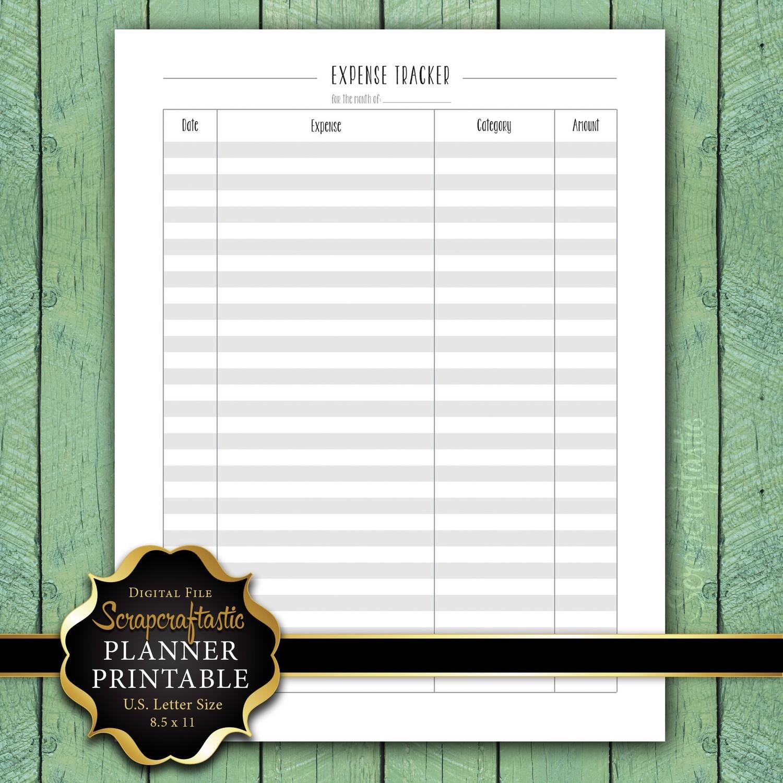 Expense Tracker Letter Size Planner Printable