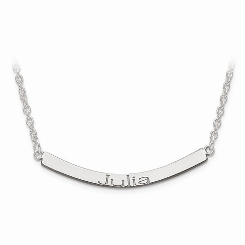 Engravable Curved Bar Necklace