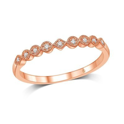 1/20Ctw Diamond Stackable Ring 14k Rose Gold