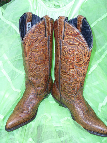 """Code West Intricate """"Pressed Tooled"""" Boots"""