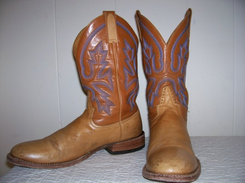 Rod Patrick boots with awesome stitching!