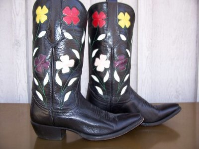 Absolutely stunning Larry Mahan 'floral' boots!!