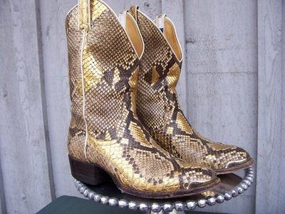 Panhandle Slim gilded snakeskin boots.....Priceless!