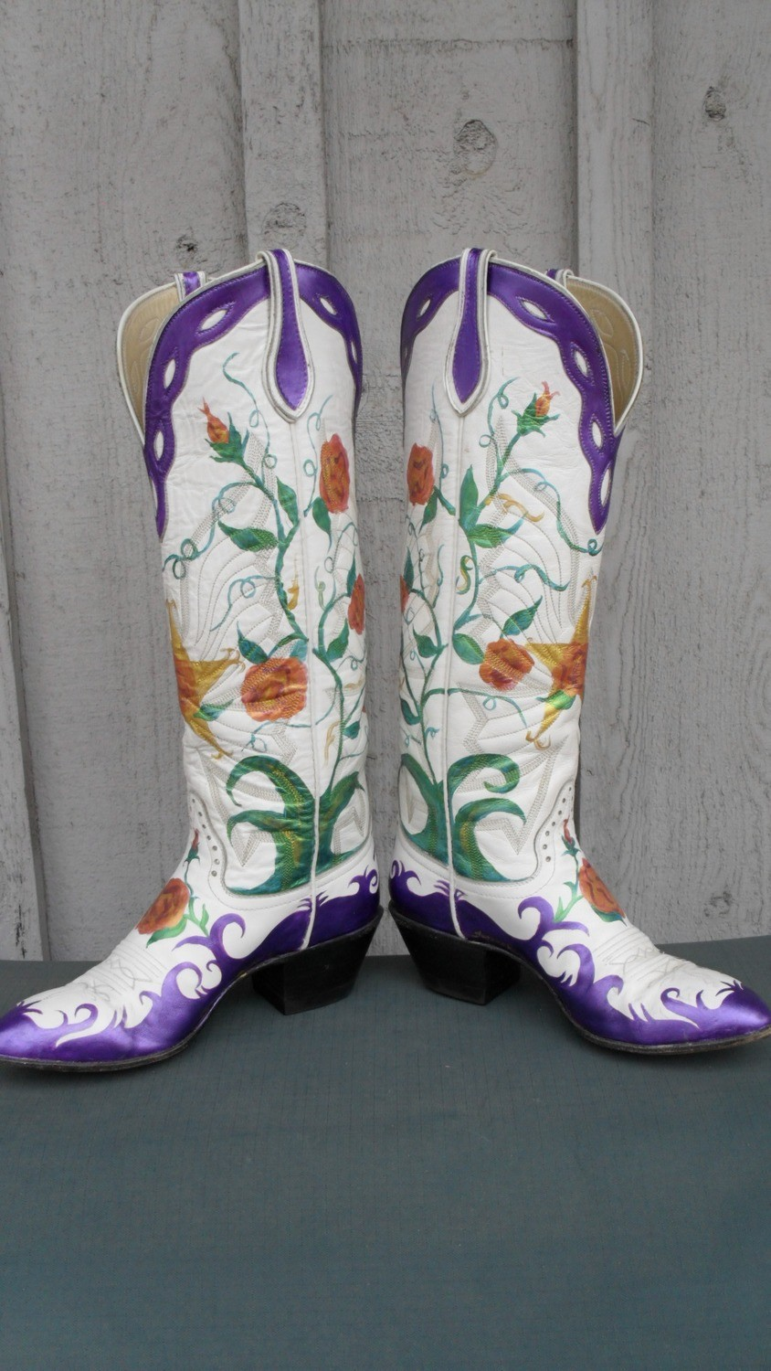 Handpainted boots with cutting edge style!