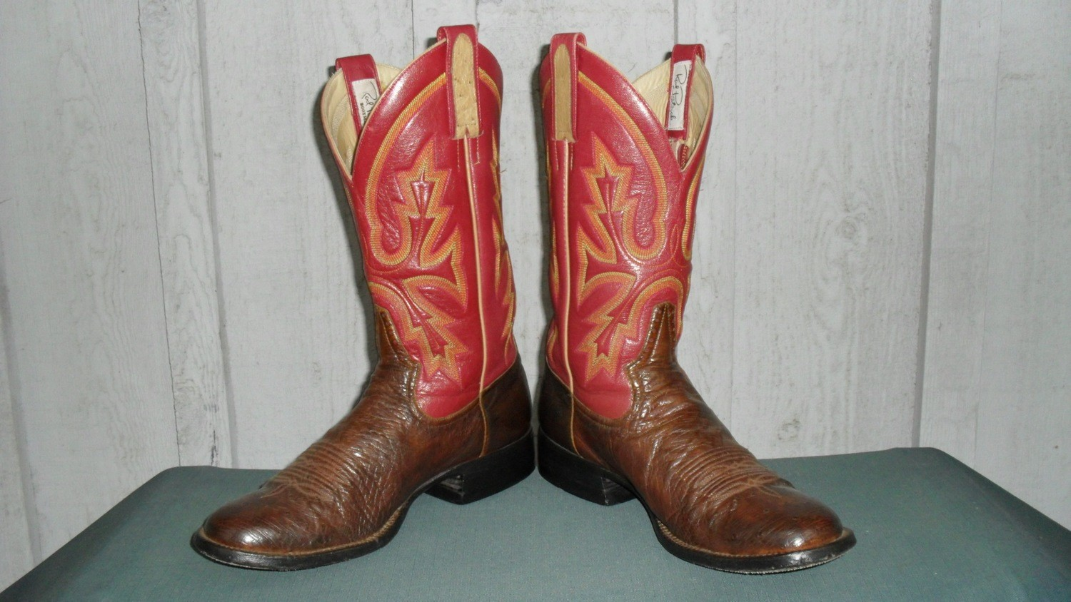 Red Hot Ostrich Boots by Rod Patrick Bootmakers!