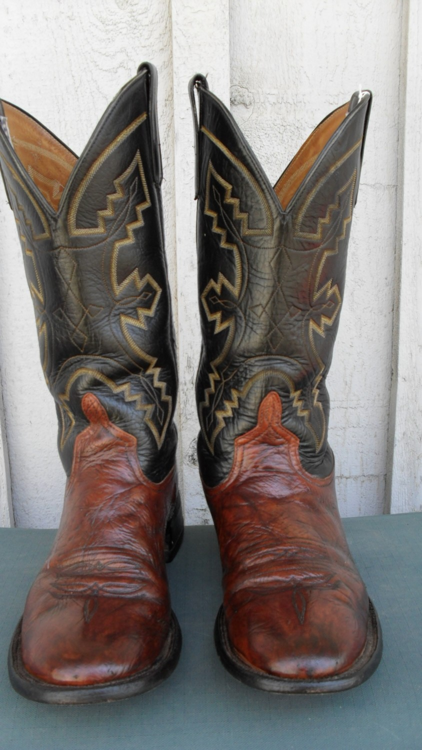 Anderson Bean boots with a rich color combination!