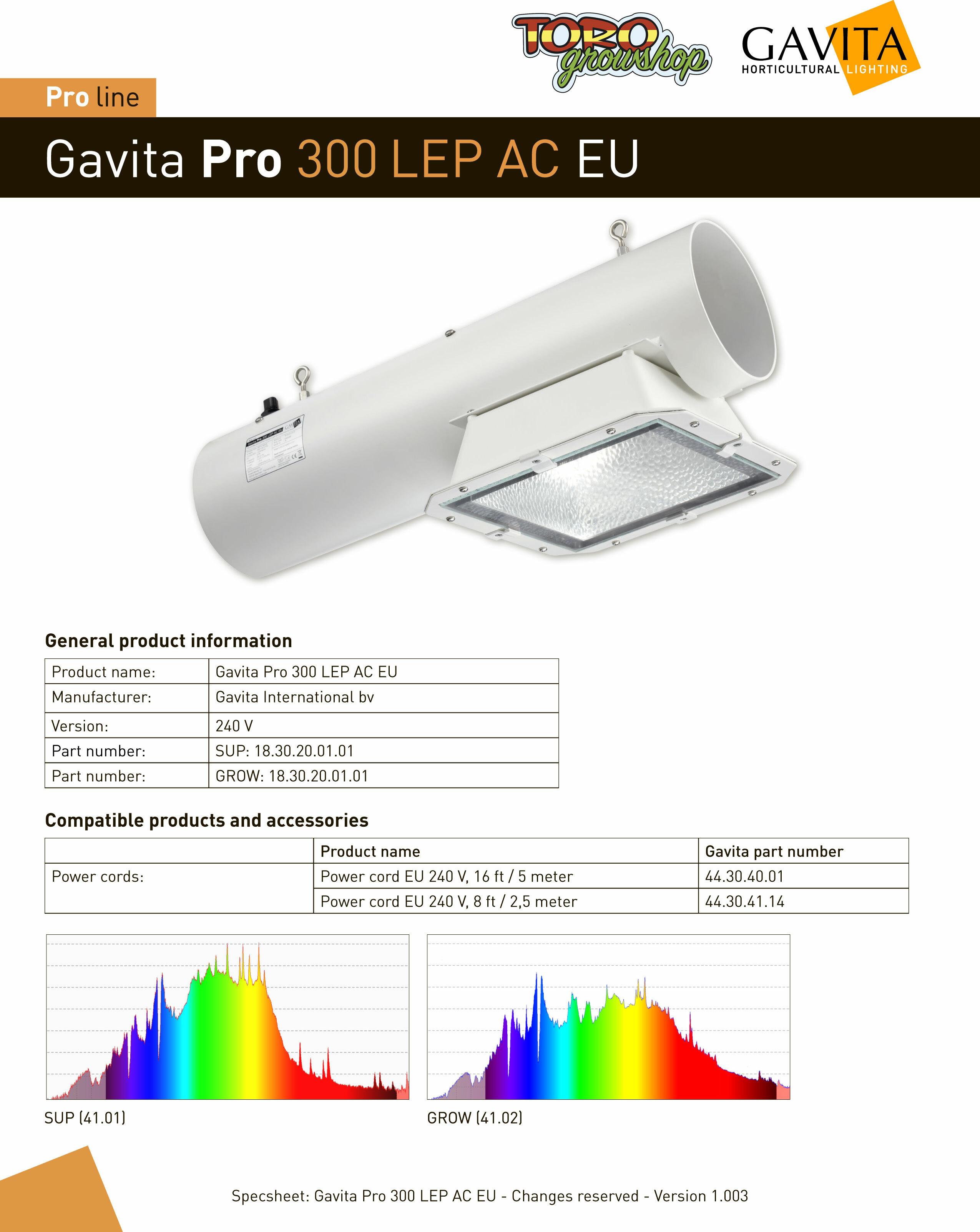 Светильник для теплиц Gavita Pro 300 LEP AC (плазма)
