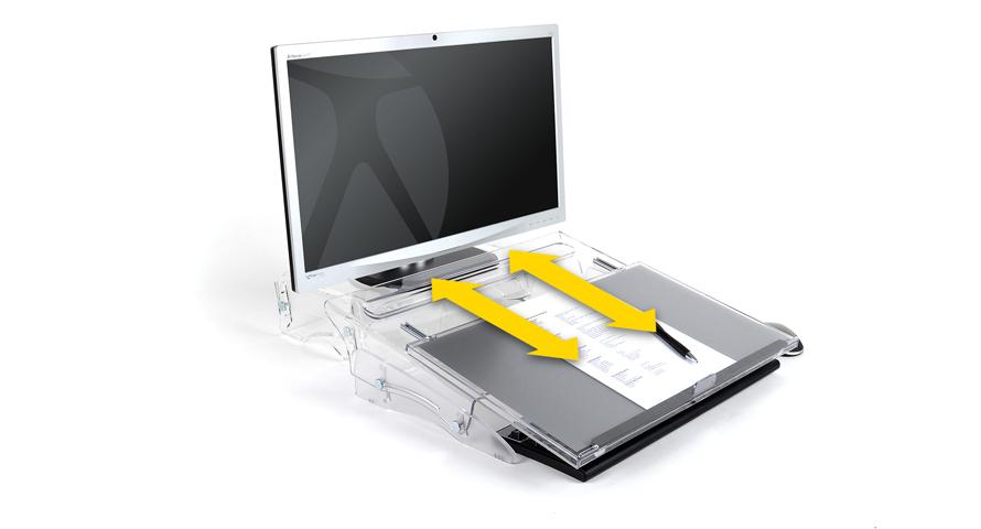 Die Arbeitsfläche lässt sich bei Bedarf über die Tastatur ziehen.