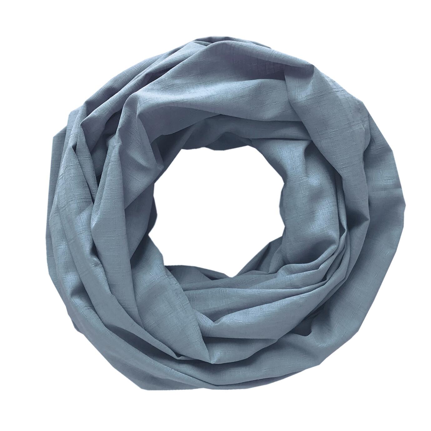 Легкий шарф-снуд пыльно-голубой