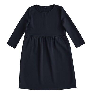 Платье взрослое черно-синее