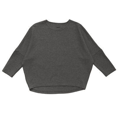Взрослый лонгслив темно-серый