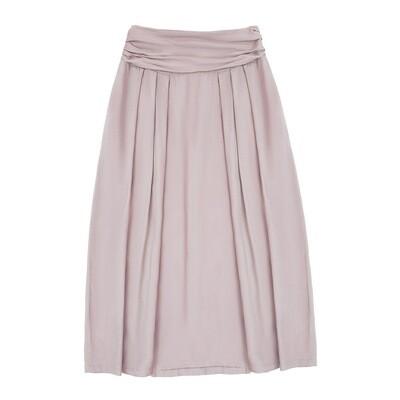 Взрослая юбка нежно-пудровая (весна-лето 2020)