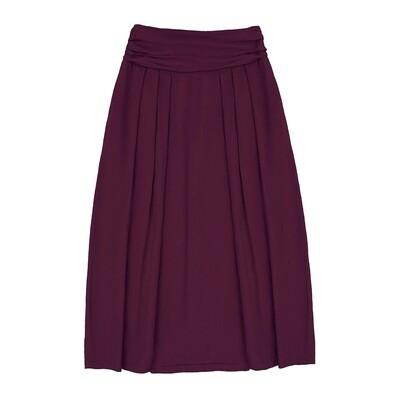 Взрослая юбка бордовая (весна-лето 2020)