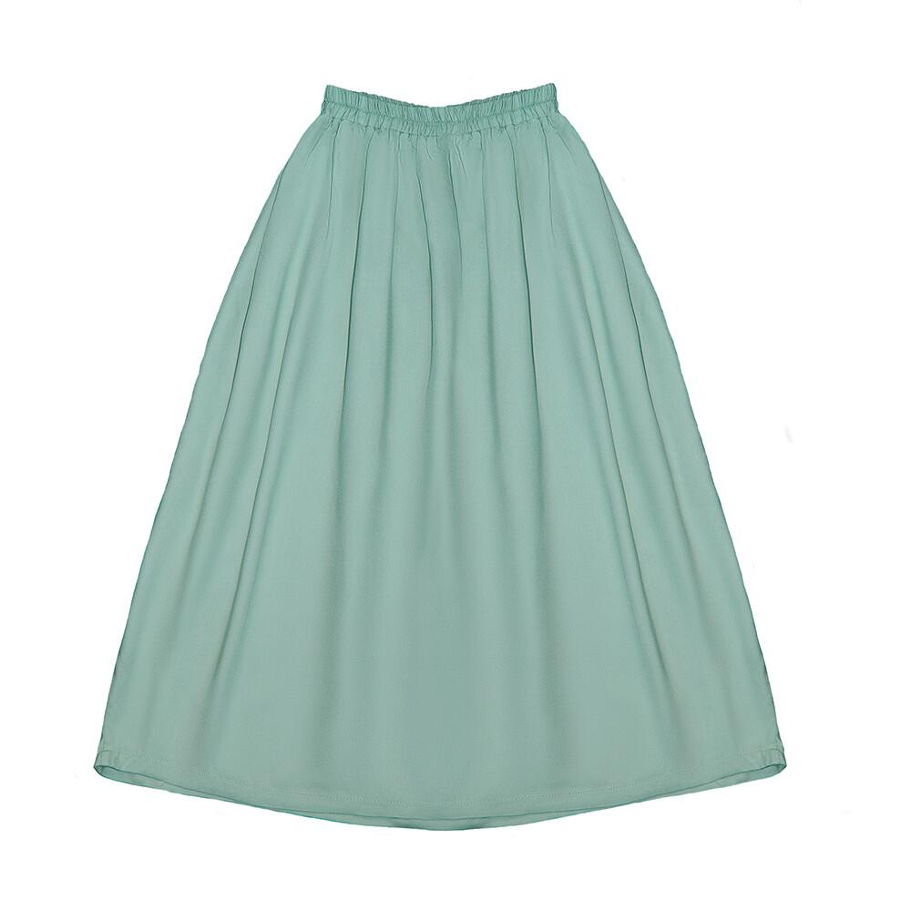 Подростковая юбка цвет морской волны пастельный (весна-лето 2020)