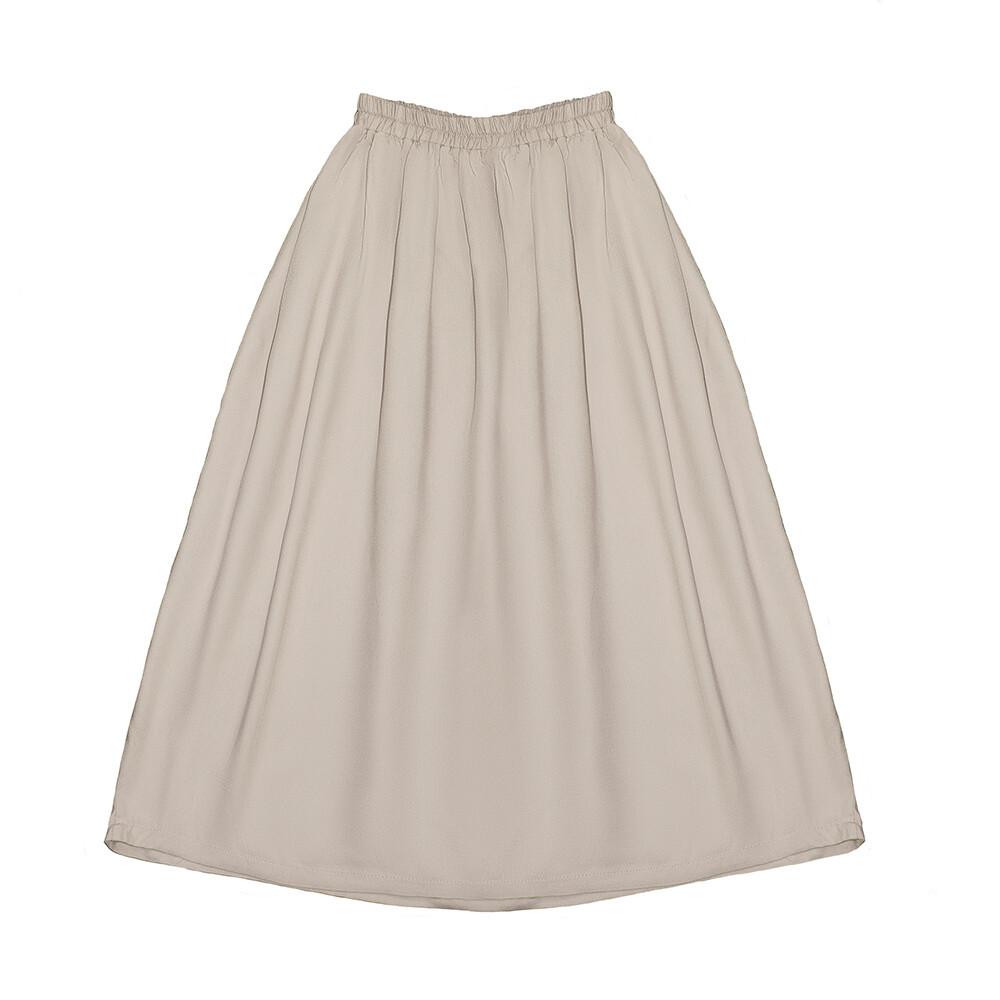 Подростковая юбка бежевая (весна-лето 2020)