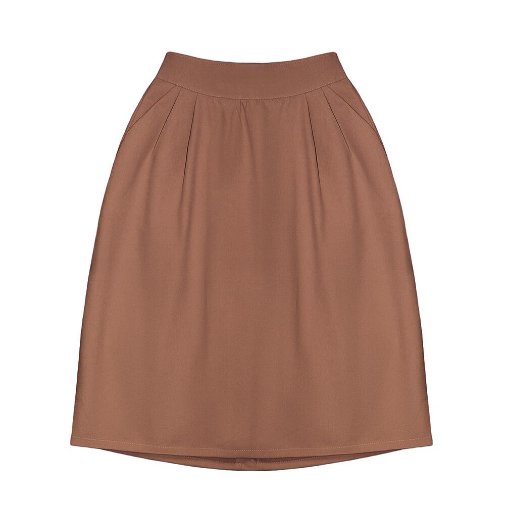 Взрослая юбка пастельно-терракотовая (2020)