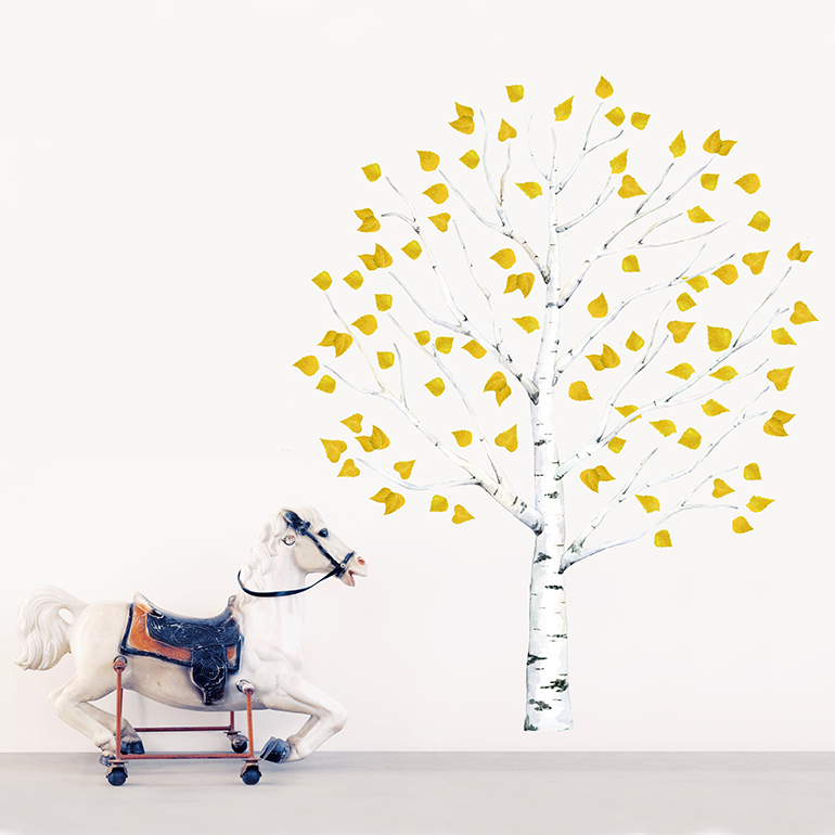 Интерьерная наклейка «Набор жёлтых листьев»