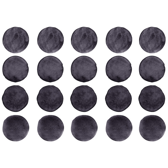 Интерьерная наклейка Watercolor Polka Dots — чёрный