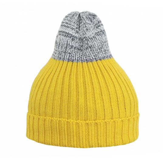 Двухцветная шапка Tamanegi жёлтая/меланж