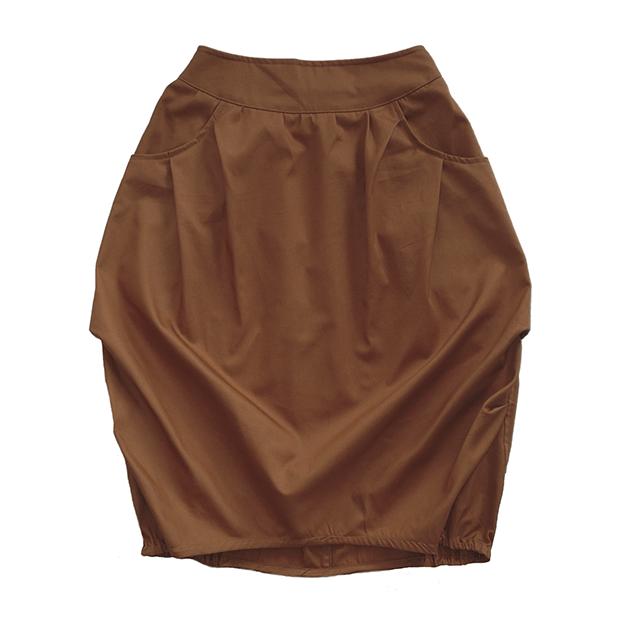Взрослая юбка коричневая